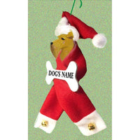 Welsh Terrier Santa Bone Ornament