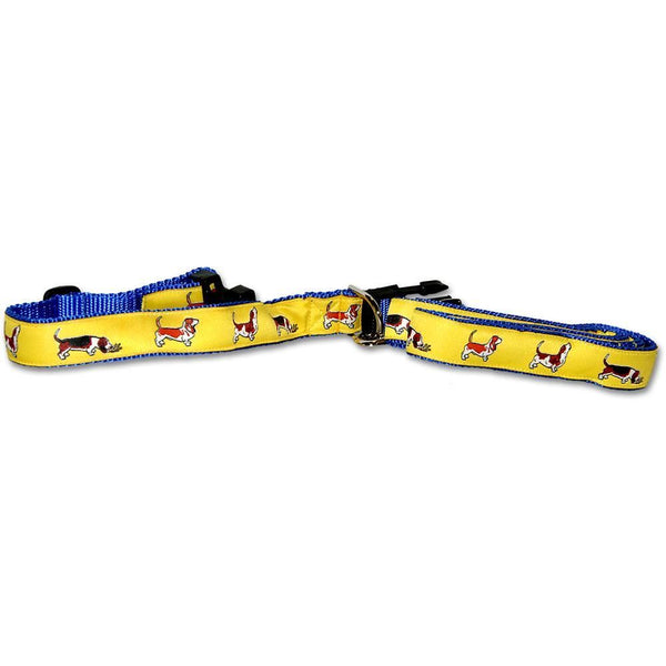 Basset Hound Collar and Leash Set