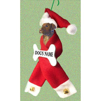 Chesapeake Bay Retriever Dog Santa Bone Ornament
