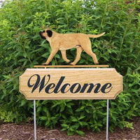 Mastiff Welcome Sign