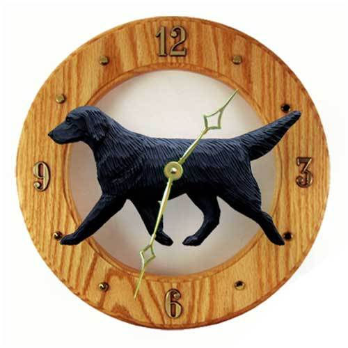 Flat-Coated Retriever Wall Clock