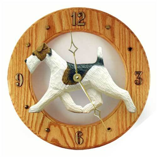 Wire Fox Terrier Wall Clock