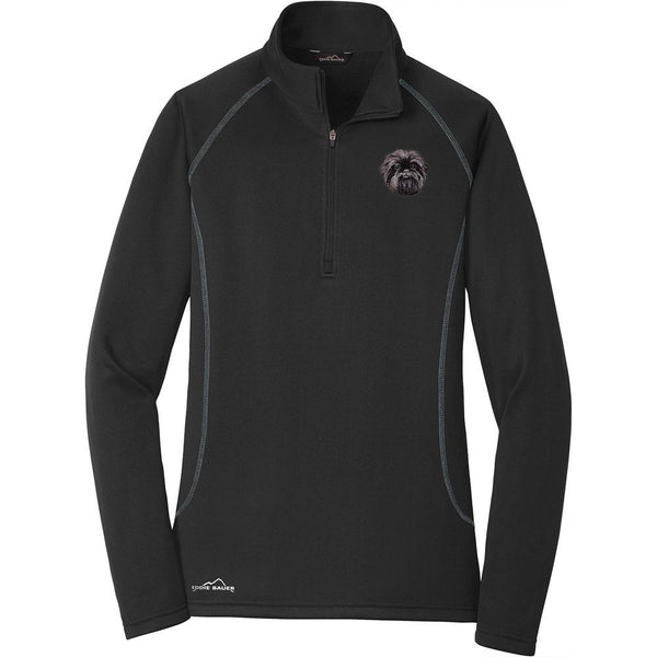 Embroidered Eddie Bauer Ladies Base Layer Fleece Black 3X-Large Affenpinscher DM488