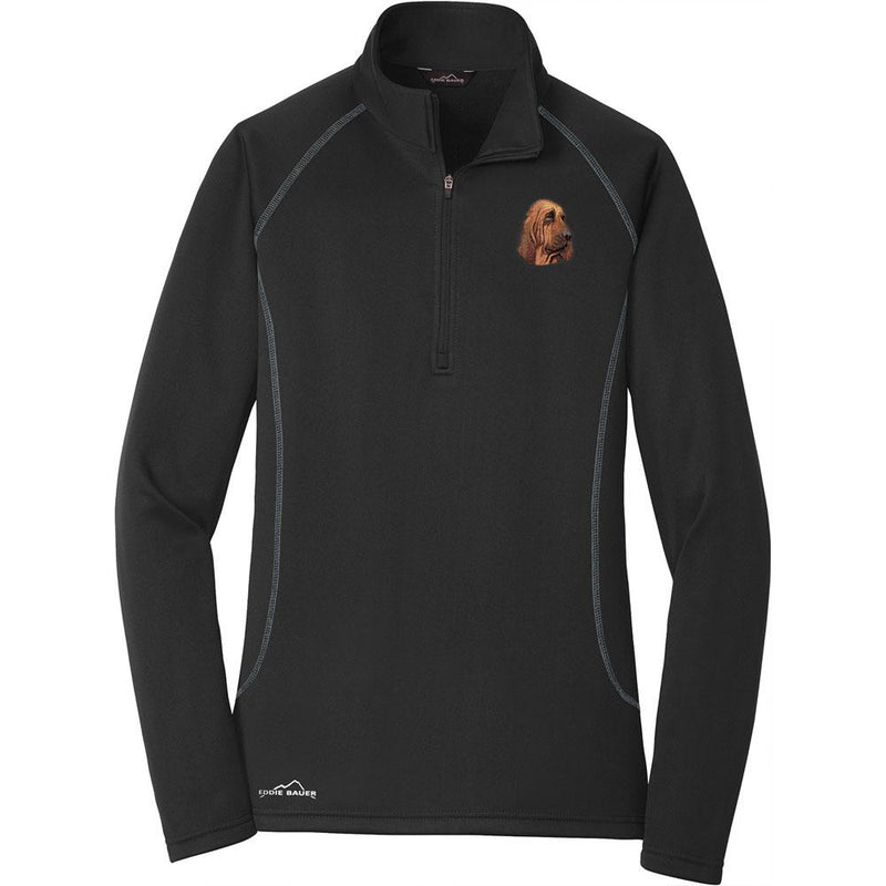 Embroidered Eddie Bauer Ladies Base Layer Fleece Black 3X-Large Bloodhound DM411