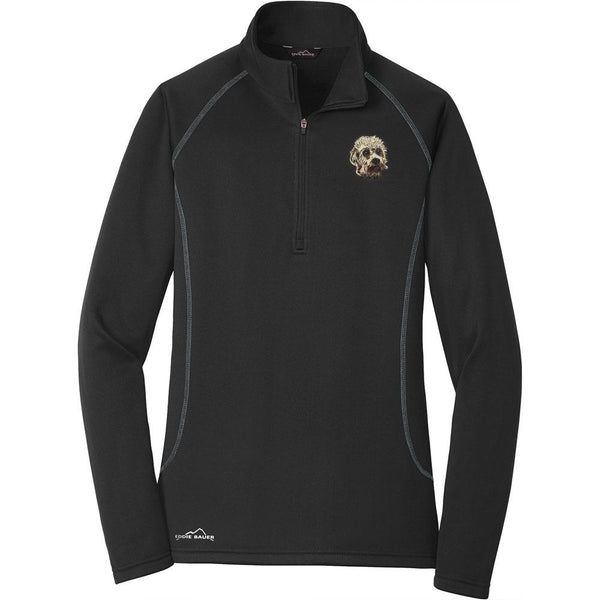 Embroidered Eddie Bauer Ladies Base Layer Fleece Black 3X-Large Dandie Dinmont Terrier DJ299