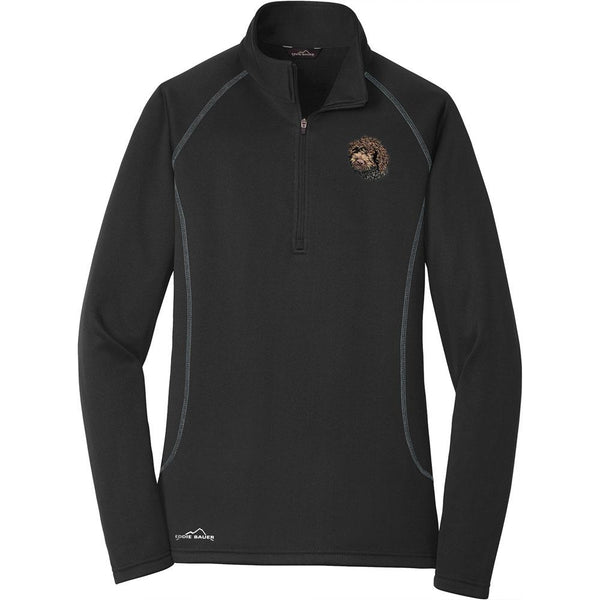 Embroidered Eddie Bauer Ladies Base Layer Fleece Black 3X-Large Lagotto Romagnolo DV168