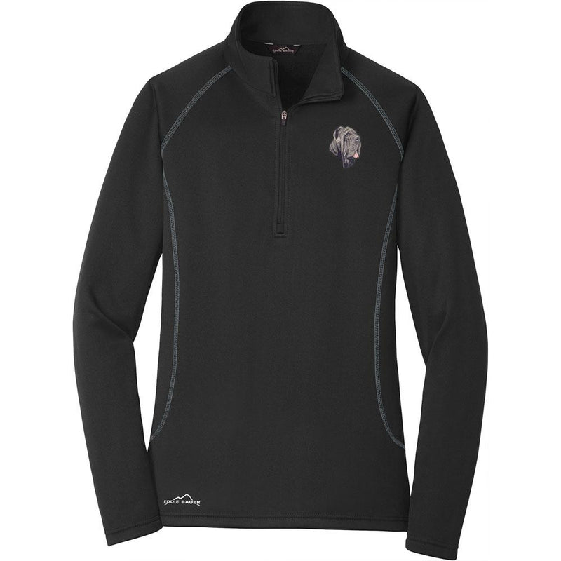 Embroidered Eddie Bauer Ladies Base Layer Fleece Black 3X-Large Neapolitan Mastiff DM163