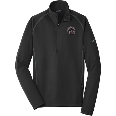 Affenpinscher Embroidered Eddie Bauer Mens Quarter Zip Pullover Fleece