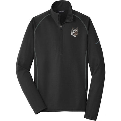 Akita Embroidered Eddie Bauer Mens Quarter Zip Pullover Fleece