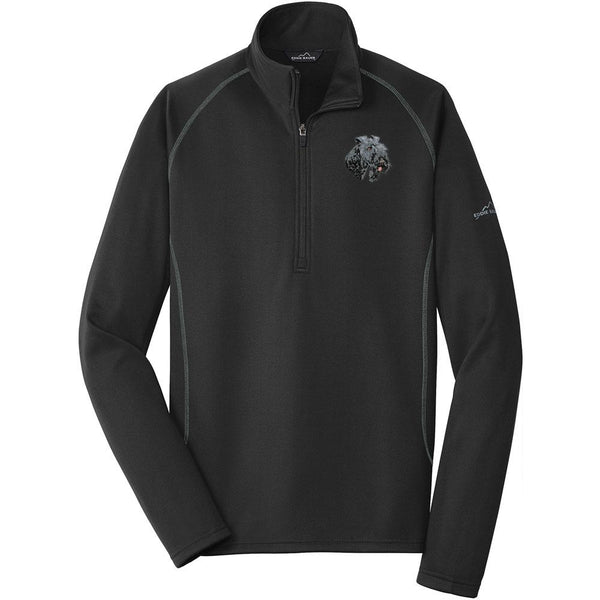 Embroidered Eddie Bauer Mens Base Layer Fleece Black 3X-Large Kerry Blue Terrier D74
