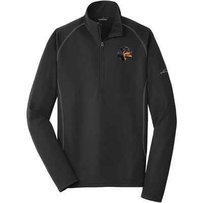 Rottweiler Embroidered Eddie Bauer Mens Quarter Zip Pullover Fleece