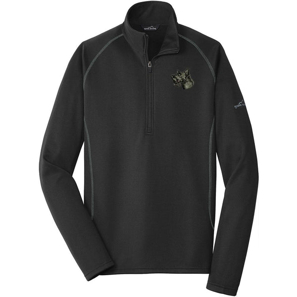 Embroidered Eddie Bauer Mens Base Layer Fleece Black 3X-Large Scottish Terrier D32