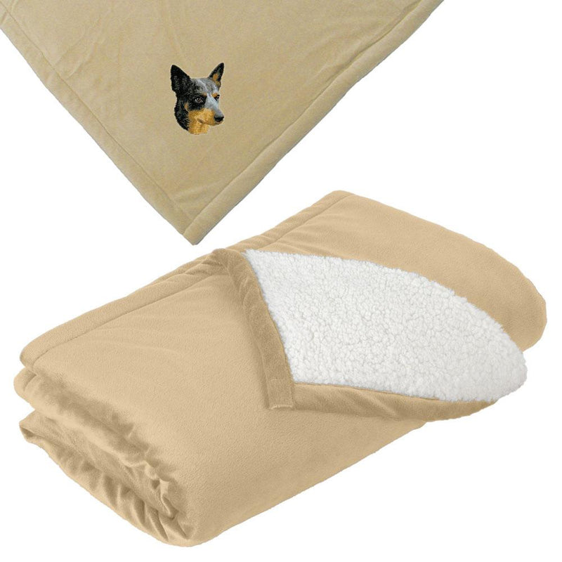 Embroidered Blankets Tan  Australian Cattle Dog D99