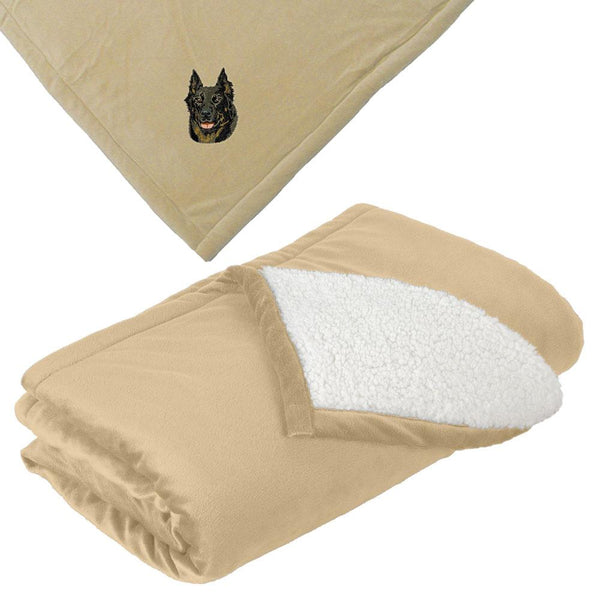 Embroidered Blankets Tan  Beauceron DV165