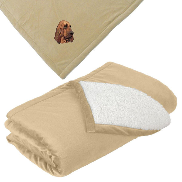 Embroidered Blankets Tan  Bloodhound DM411