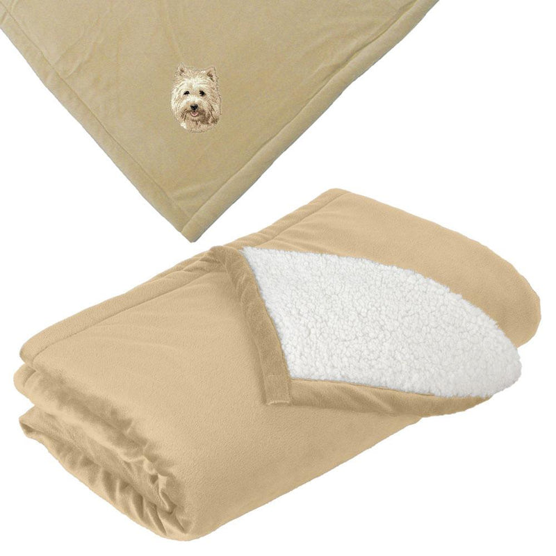 Embroidered Blankets Tan  Cairn Terrier D106