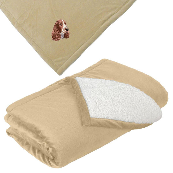 Embroidered Blankets Tan  English Springer Spaniel D130