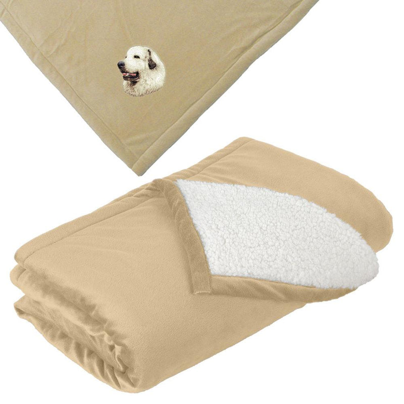 Embroidered Blankets Tan  Great Pyrenees D27
