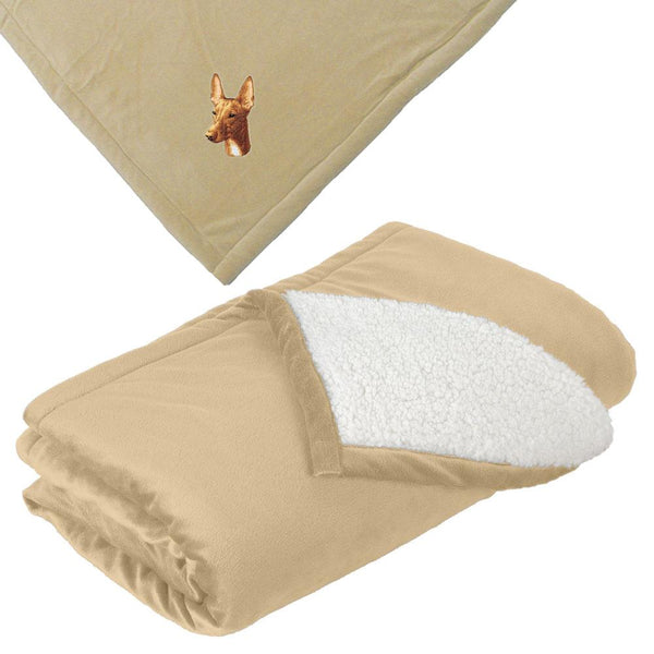 Embroidered Blankets Tan  Pharaoh Hound D90