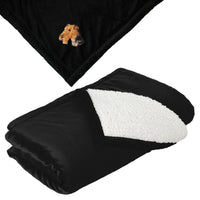 Airedale Terrier Embroidered Blankets