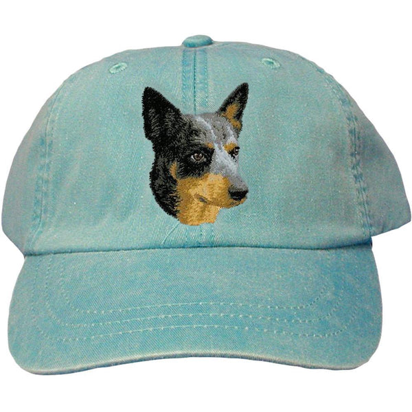 Embroidered Baseball Caps Turquoise  Australian Cattle Dog D99