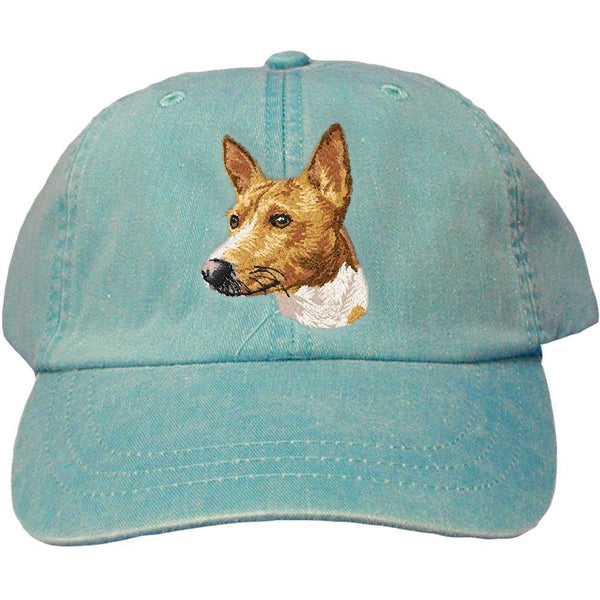Embroidered Baseball Caps Turquoise  Basenji DM171