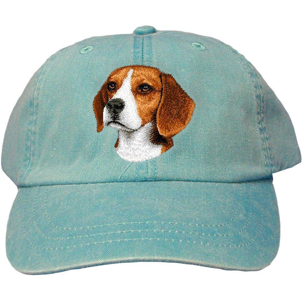 Embroidered Baseball Caps Turquoise  Beagle D31
