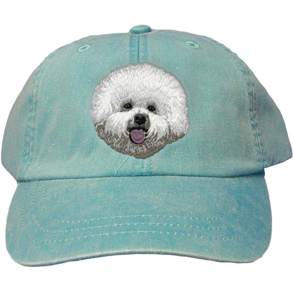Embroidered Baseball Caps Turquoise  Bichon Frise DM406
