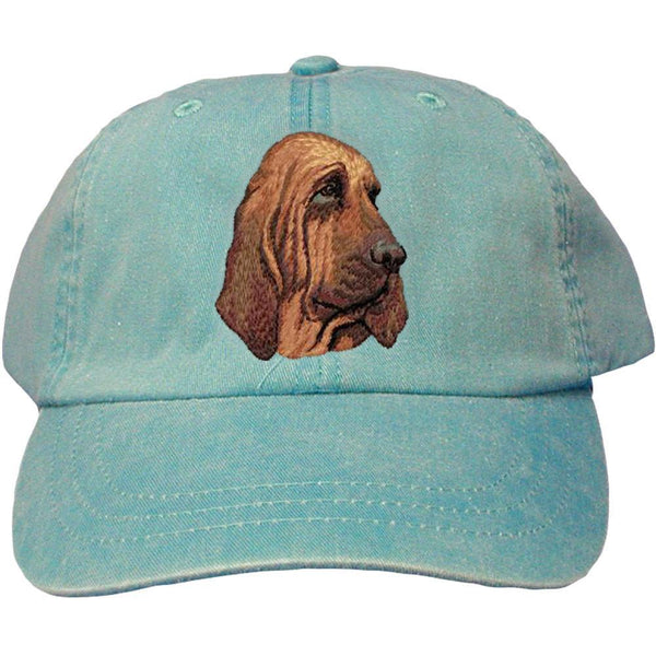 Embroidered Baseball Caps Turquoise  Bloodhound DM411