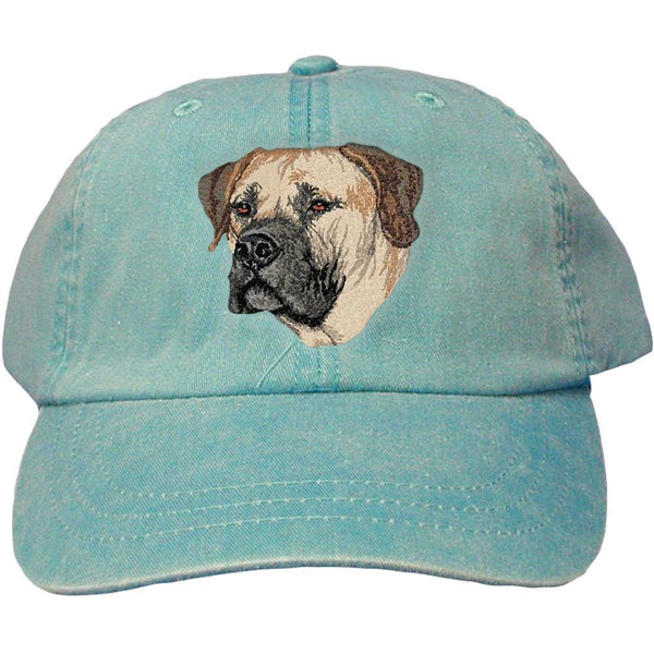 Embroidered Baseball Caps Turquoise  Boerboel DV209