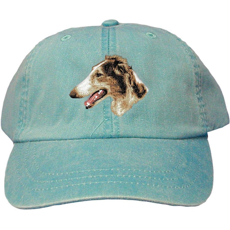 Embroidered Baseball Caps Turquoise  Borzoi D43