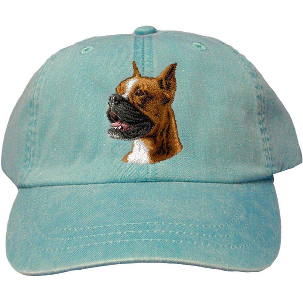 Embroidered Baseball Caps Turquoise  Boxer D19