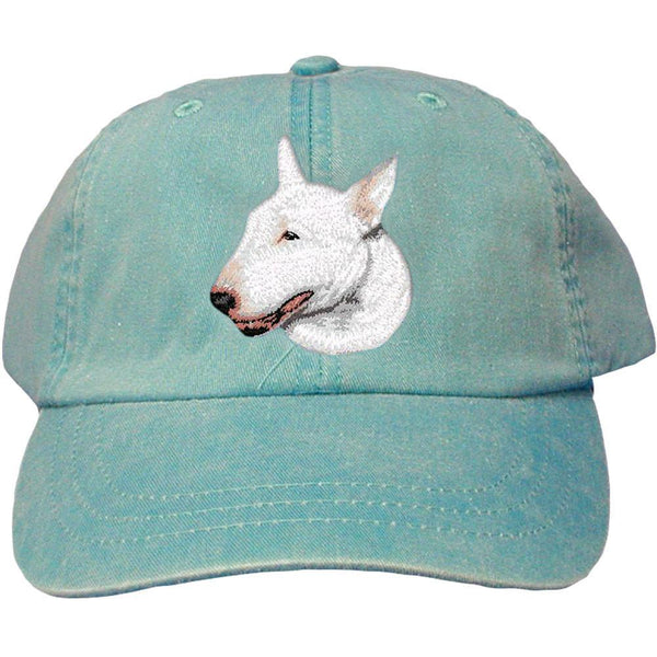 Embroidered Baseball Caps Turquoise  Bull Terrier D88