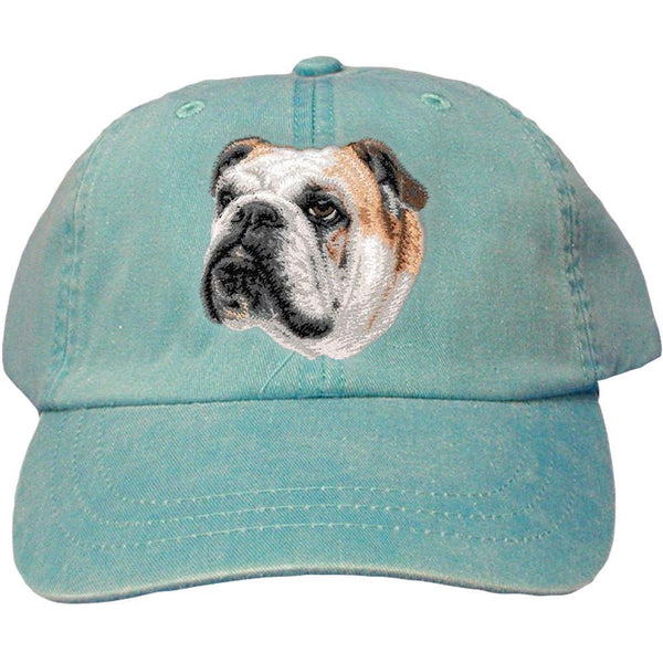 Embroidered Baseball Caps Turquoise  Bulldog D59