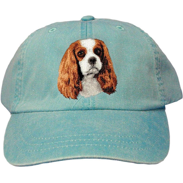 Embroidered Baseball Caps Turquoise  Cavalier King Charles Spaniel D11