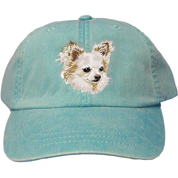 Embroidered Baseball Caps Turquoise  Chihuahua DV206