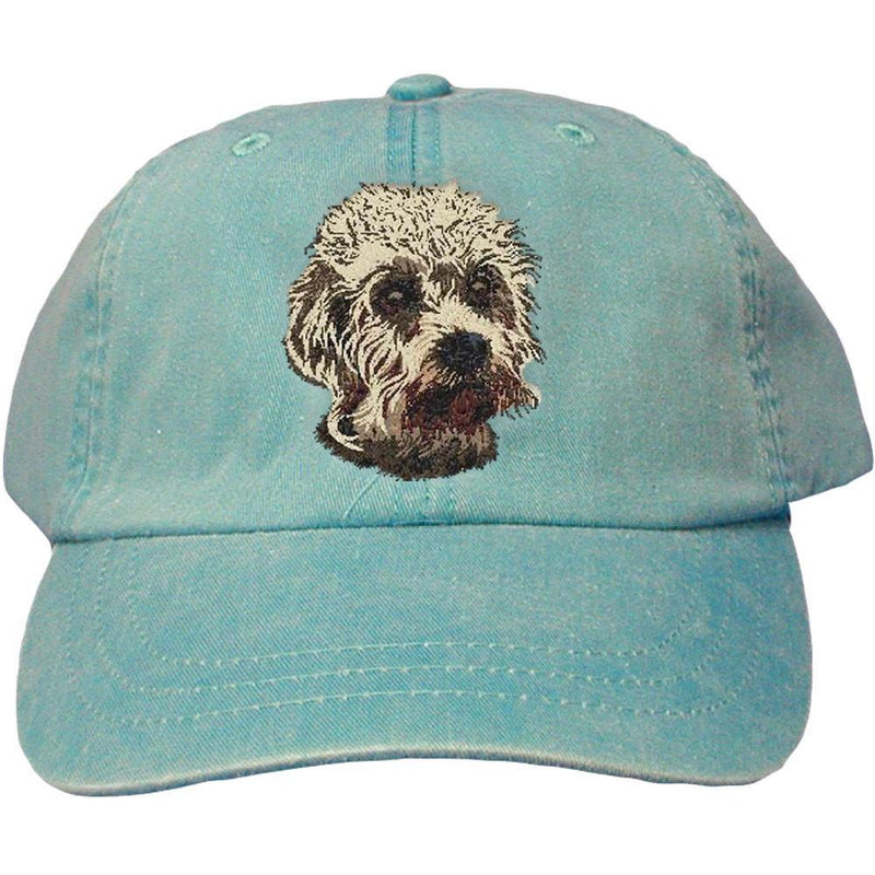 Embroidered Baseball Caps Turquoise  Dandie Dinmont Terrier DJ299