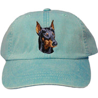 Doberman Pinscher Embroidered Baseball Caps