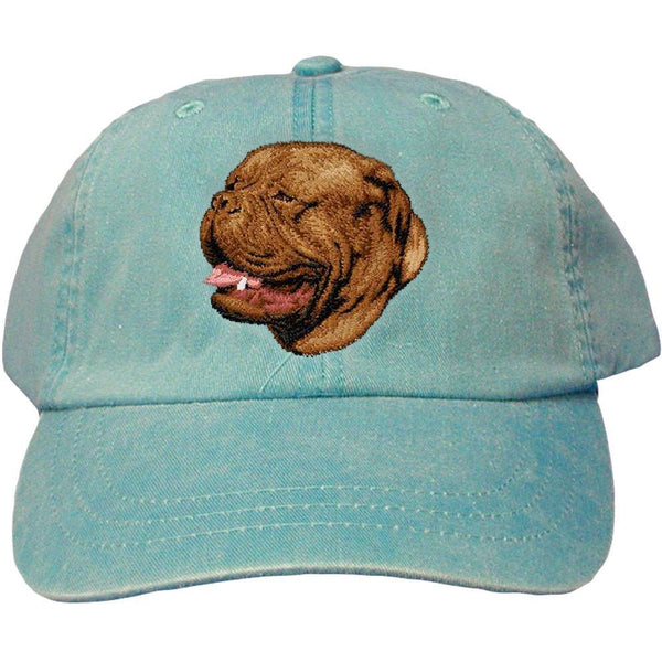 Embroidered Baseball Caps Turquoise  Dogue de Bordeaux D39