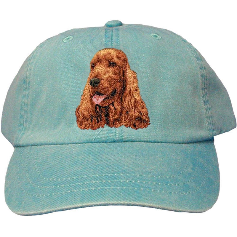 Embroidered Baseball Caps Turquoise  English Cocker Spaniel D28
