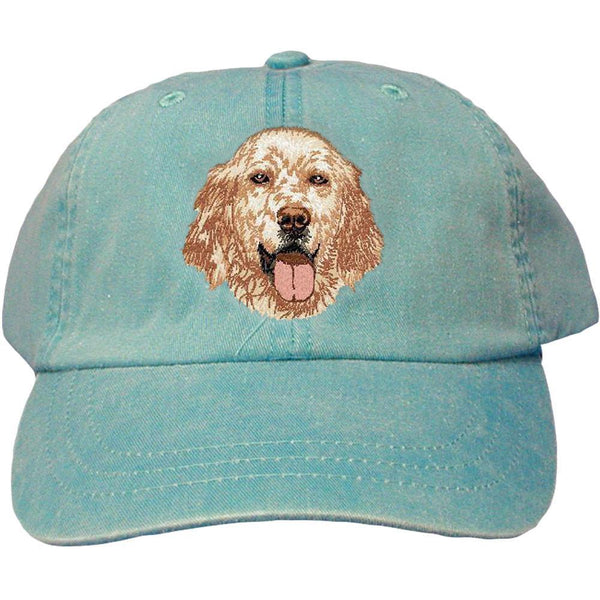 Embroidered Baseball Caps Turquoise  English Setter DV457