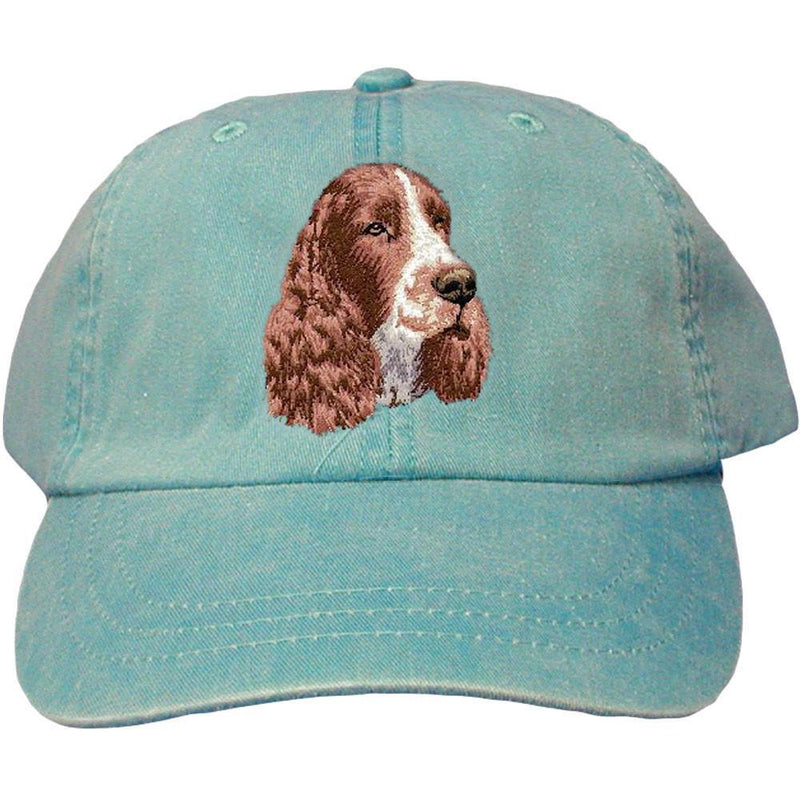 Embroidered Baseball Caps Turquoise  English Springer Spaniel D130