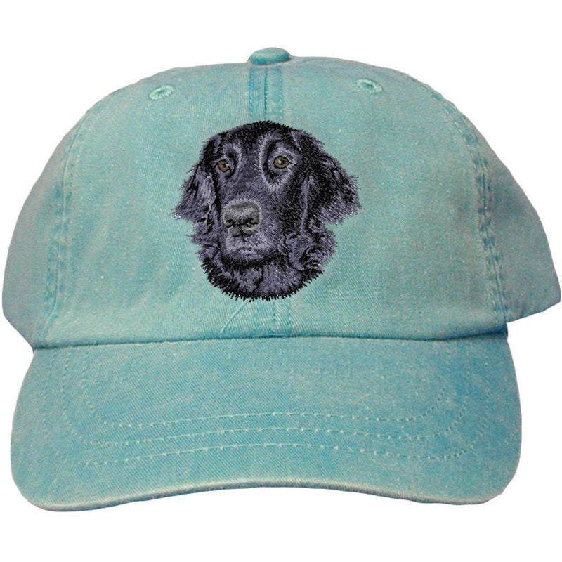 Embroidered Baseball Caps Turquoise  Flat Coated Retriever D53