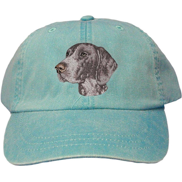 Embroidered Baseball Caps Turquoise  German Shorthaired Pointer D131