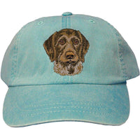 German Wirehaired Pointer Embroidered Baseball Caps