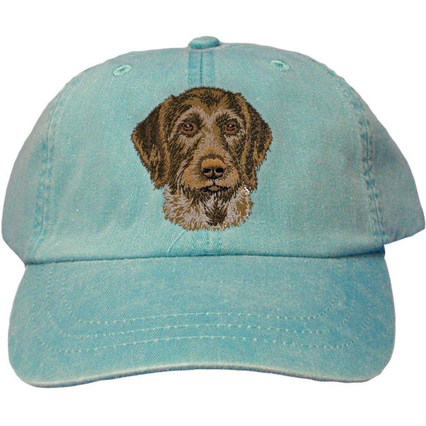 Embroidered Baseball Caps Turquoise  German Wirehaired Pointer DV467