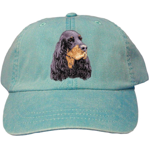 Embroidered Baseball Caps Turquoise  Gordon Setter D78
