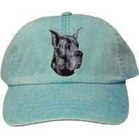 Great Dane Embroidered Baseball Caps