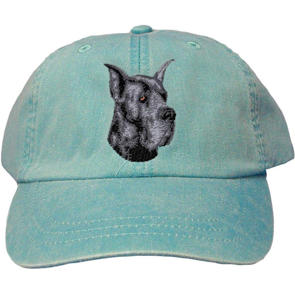 Embroidered Baseball Caps Turquoise  Great Dane D10