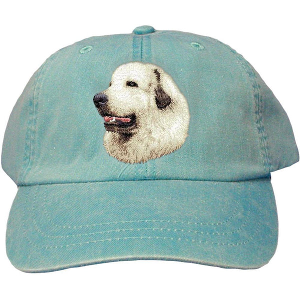 Embroidered Baseball Caps Turquoise  Great Pyrenees D27